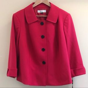 New Tahari • Alisa Blazer • 16W • Watermelon Red